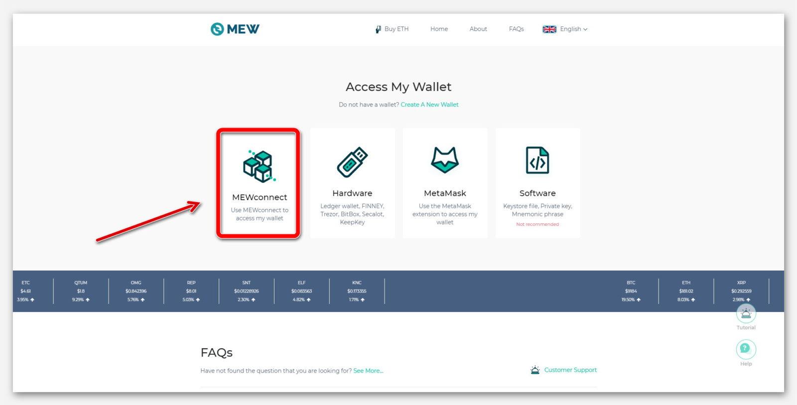 Мобильное приложение  MEWconnect, для входа в кошелёк MyEtherWallet