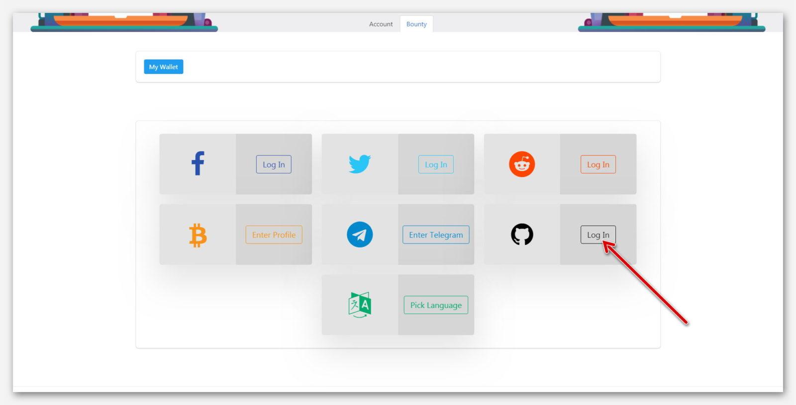 Подключение GitHub к платформе BountyHive