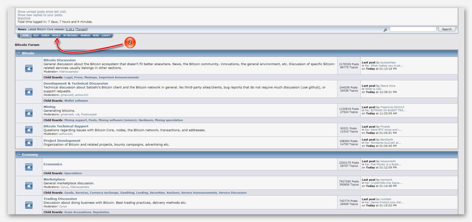 Официальный сайт криптовалютного форума Bicointalk