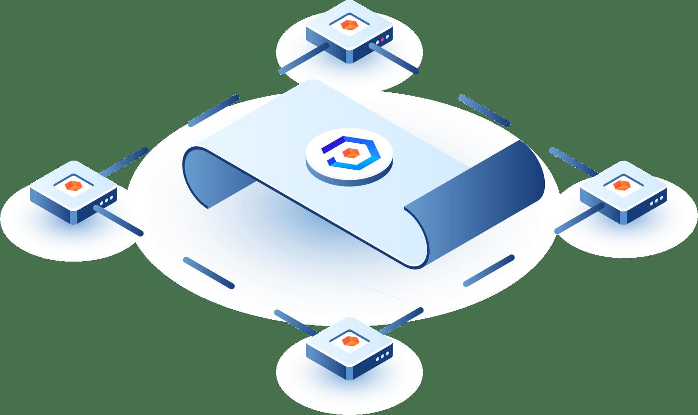 Логотип компании Phoneum, в красивом стиле