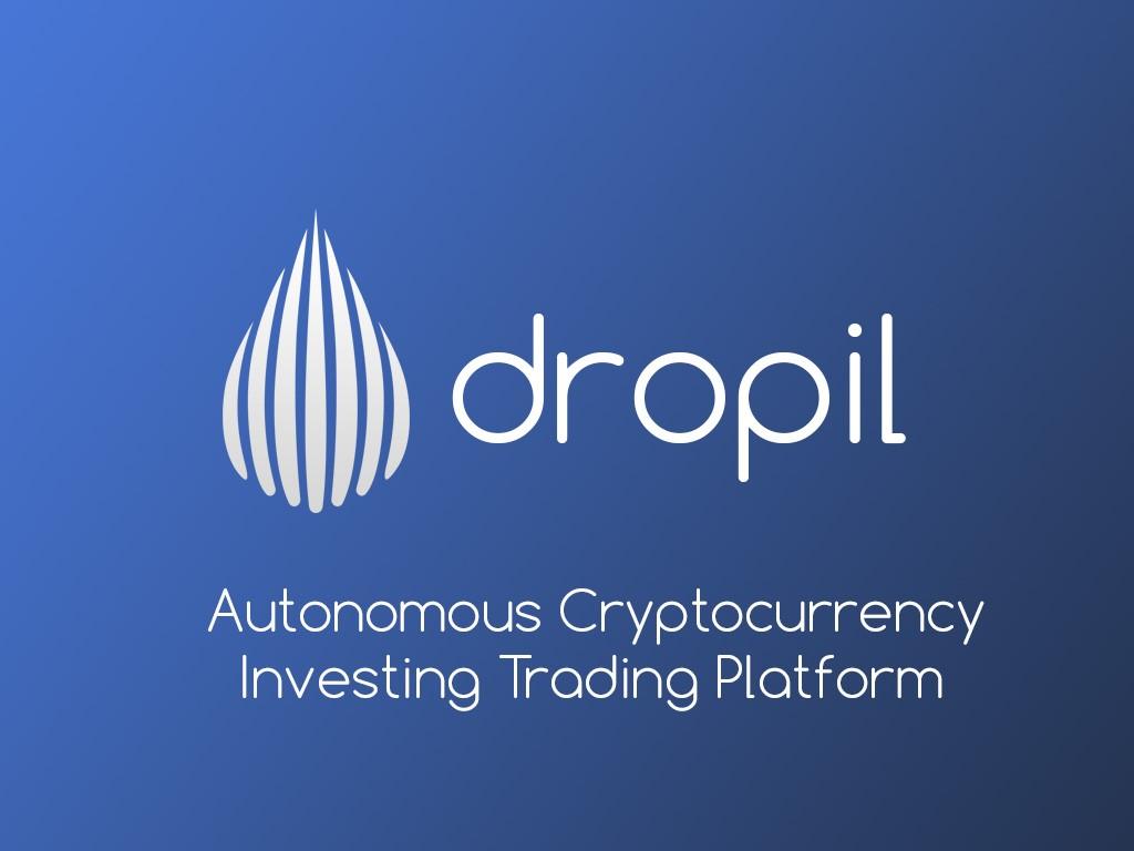 Логотип проекта Dropil, с описанием