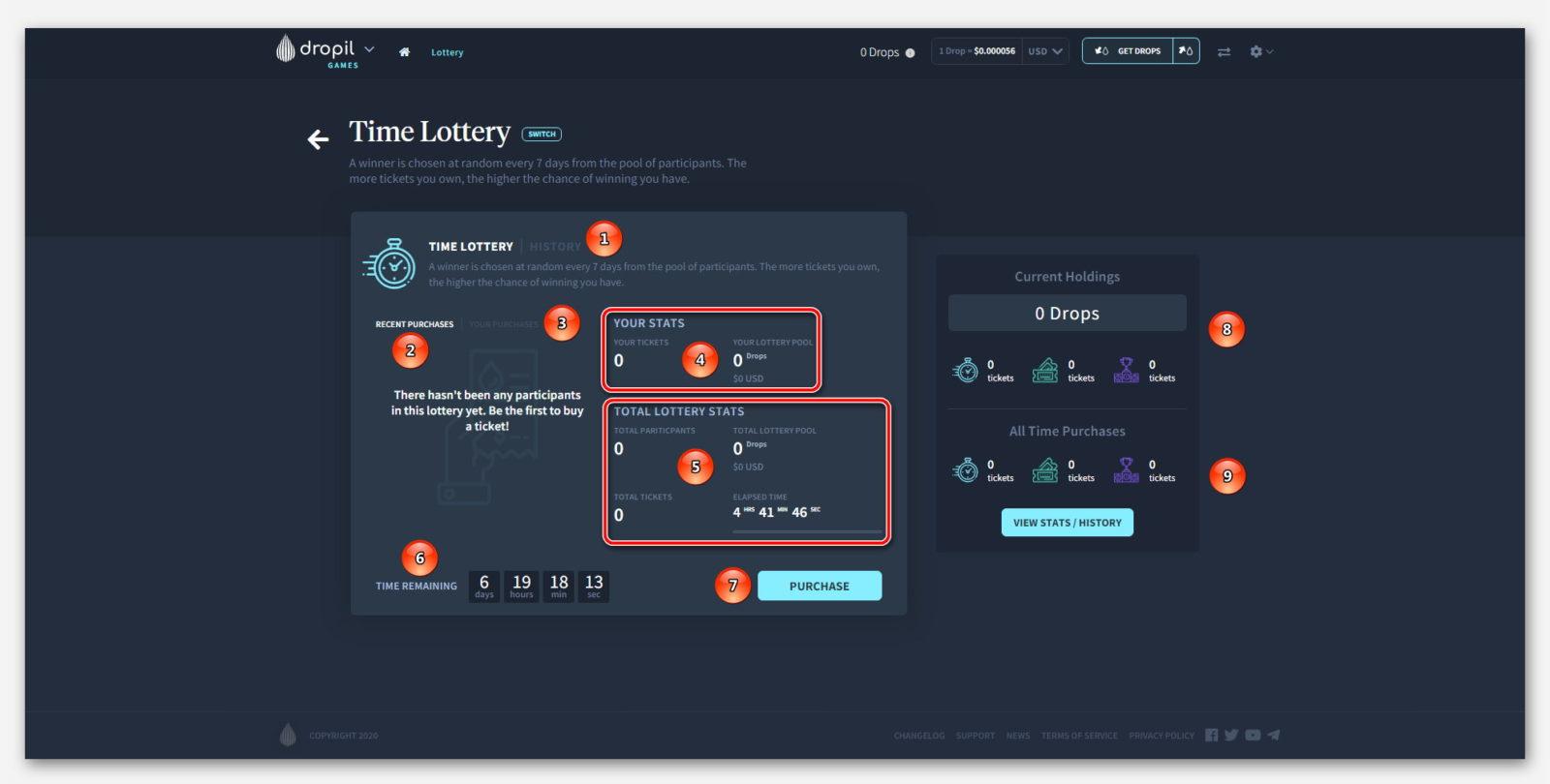 Time Lottery в проекте Dropil Games от компании Dropil