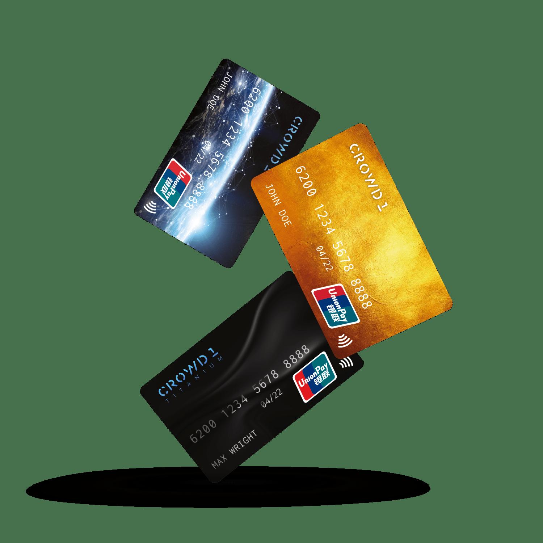 Банковские карты, в проекте CROWD 1
