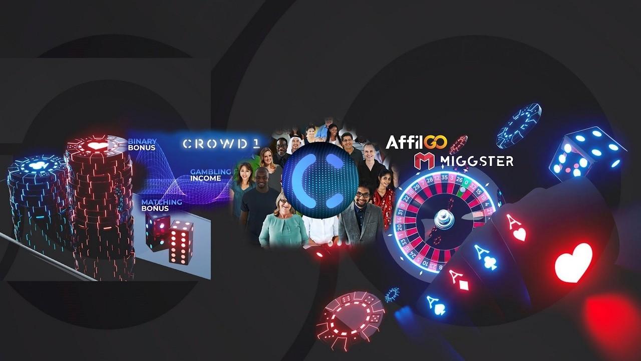Картинка с логотипами и партнёрами, представляющая проект CROWD 1