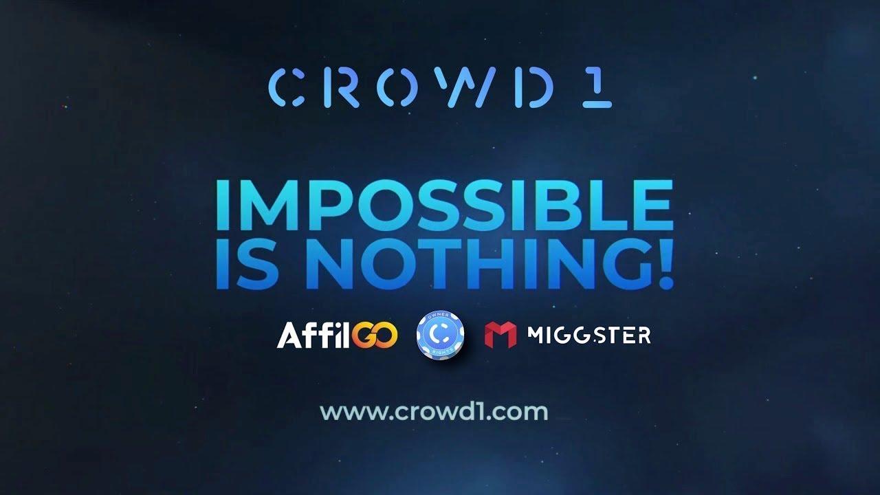 Логотип и сайт Проекта CROWD 1, с партнёрскими сетями